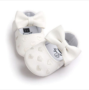 Baby Girl Leather Anti Slip Bowknot Shoes - Multi Colours Available