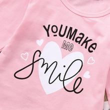 Baby Girls You Make Me Smile Top, Bottom & Headband Outfit
