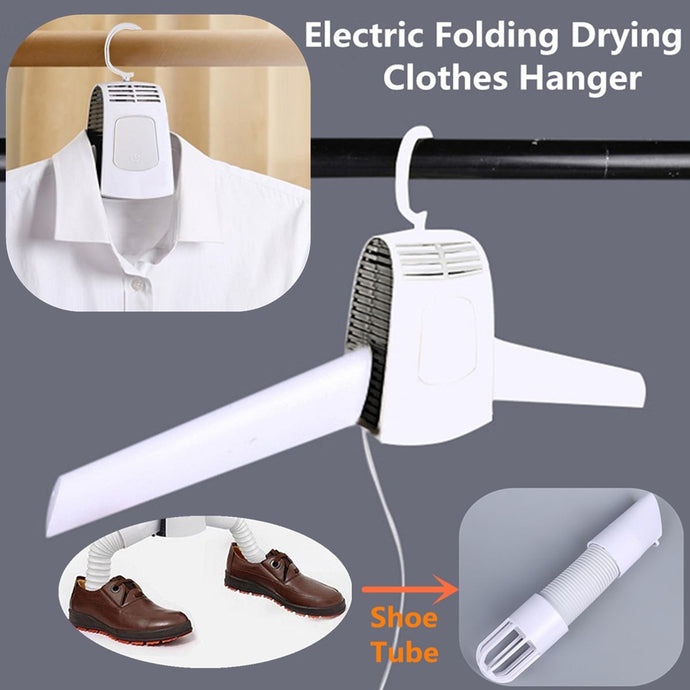 Electric Clothes Drying Rack Smart Hang Dryer Portable Outdoor & Travel Mini Folding