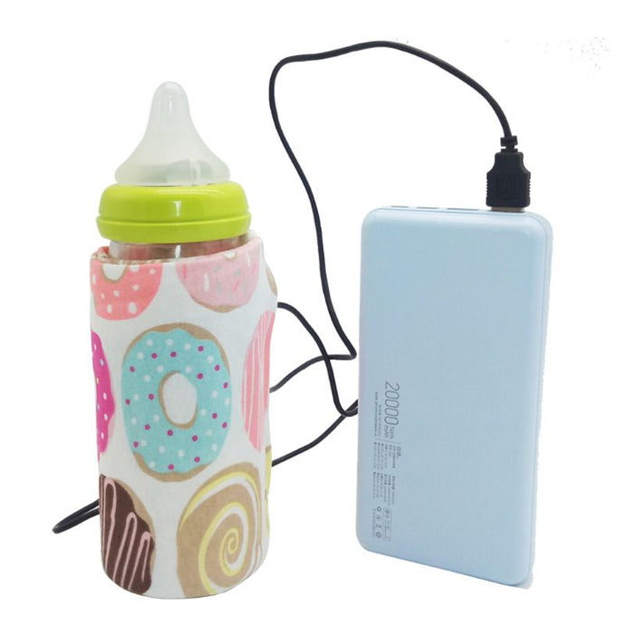 USB Travel Milk Water Bottle Warmer Insulated Bag
