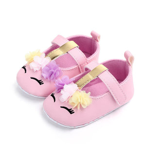 Unicorn Baby Girls Soft Shoes - Multi Colours Available