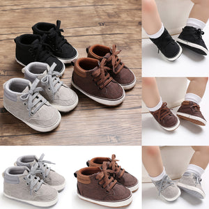 Soft Sole Sneaker Cotton Crib Shoes - Multi Colours Available