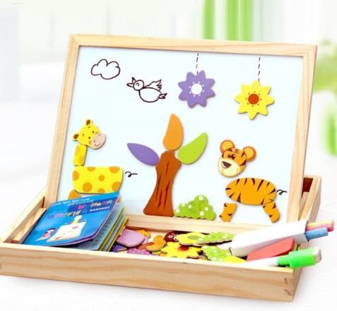 Wooden Magnetic Puzzle Box - Educational Toy Gift