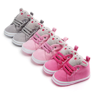 Cute Baby Girls & Boys Animal Soft Sole Sneakers - Multi Colours Available -