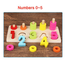 Preschool Wooden Montessori Toys Count Geometric Shapes