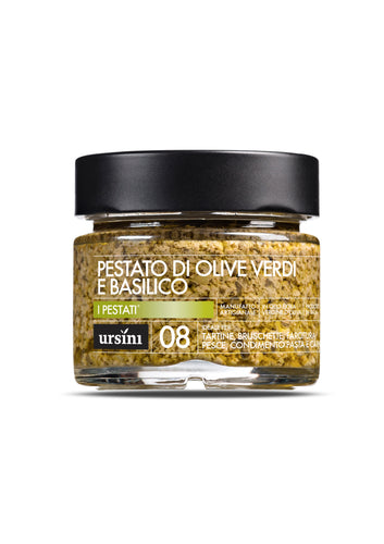 Green Olive and Basil Pesto