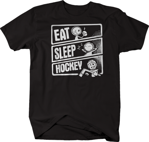 Eat Sleep Hockey Ice Roller Puck Stick