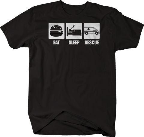 Eat Sleep Rescue Ambulance First Responder