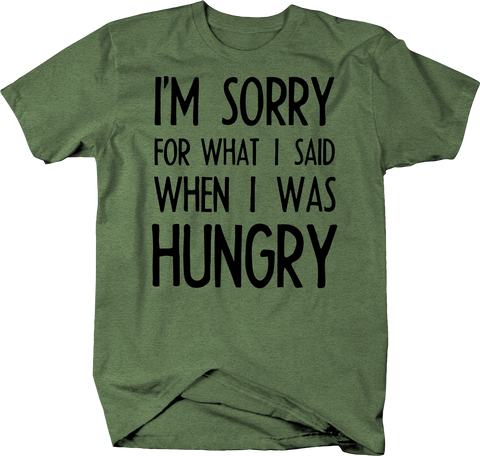 Sorry For What I Said Hungry Angry Carbs