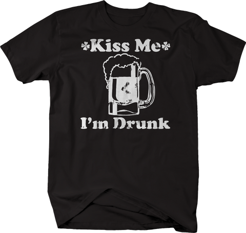 Kiss Me I'm Drunk Irish St Pat Beer Stein Bar