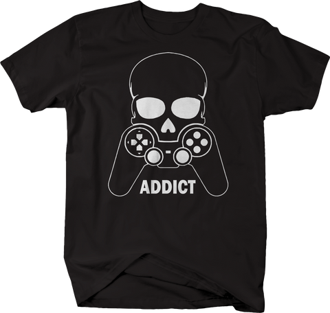 Skull Video Game Addict Gamer