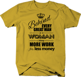 Behind Great Man Woman Work Less Money Wage Gap