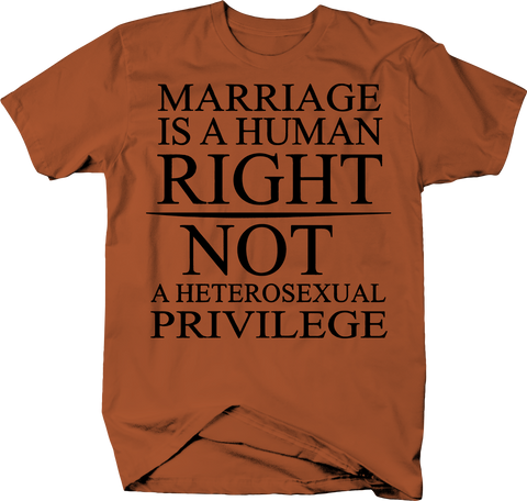 Marriage Human Right Not Heterosexual Privilege Gay