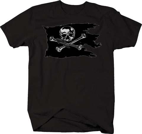 Tattered Pirate Flag Skull Crossbones