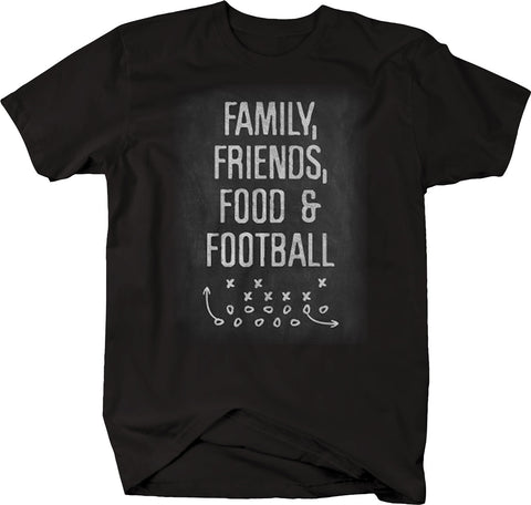 Family Friends Food Football Sunday College Pro Vintage Tshirt