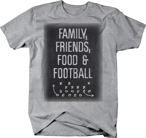 Family Friends Food & Football Father's Day T-Shirt