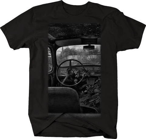 Vintage Pickup Truck Rusted Patina in field  Tshirt