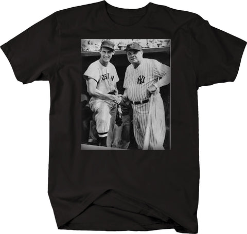 Babe Ruth & Ted - Sox Yankees Baseball Greatest Vintage  Tshirt