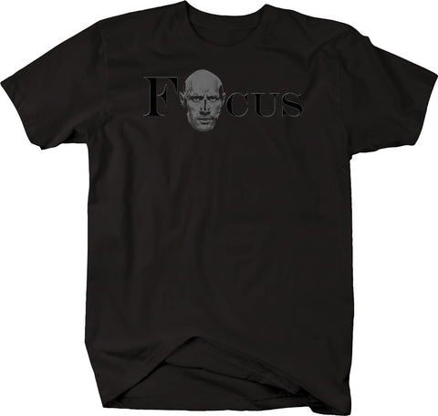 Focus The Rock Workout Gym Muscles Meme Tshirt