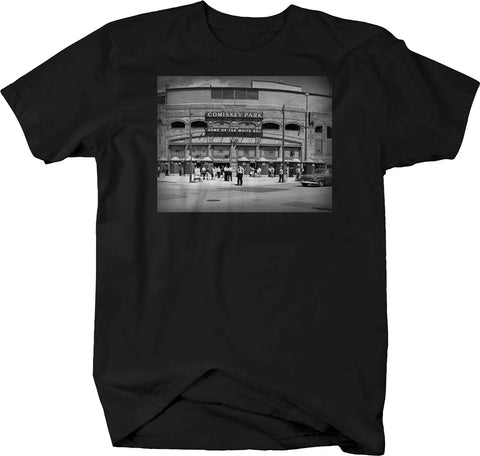 Comiskey Park Sox Baseball Vintage Stadium Retro Throwback Tshirt