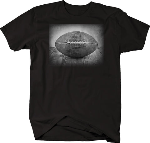 Vintage Throwback Football Leather Pigskin League Sunday Gameday Tshirt