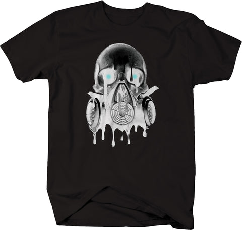 Melting Skull Gas Mask Goth Rock Hardcore