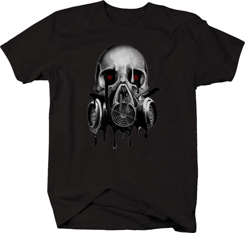 Melting Skull Gas Mask Blood Red Eyes