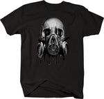 Melting Skull Gas Mask Blood Red Eyes Tshirt