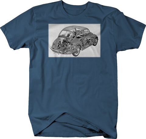 Beetle Bug Retro Hippie Tee