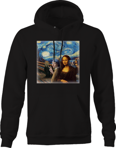 Mona Lisa Starry Knight Art Funny Group Selfie Cell Phone Meme