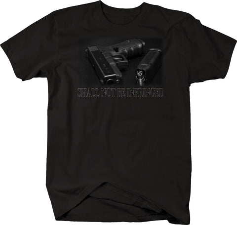 Shall Not Be Infringed Pistol Hollow Points Black Gun 2nd Amendment Tshirt