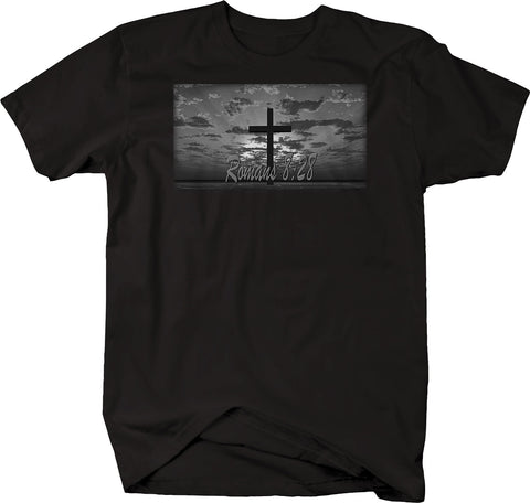 Romans 8:28 Cross Jesus Holy Kingdom Bible Tee