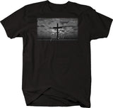 John 3:17 Cross Jesus Holy Kingdom Bible Tee