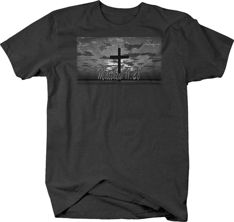 Matthew 11:28 Cross Jesus Holy Kingdom Bible Shirt