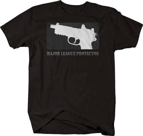 Major League Protector 2nd Amendment NRA Pistol Tactical  Tshirt