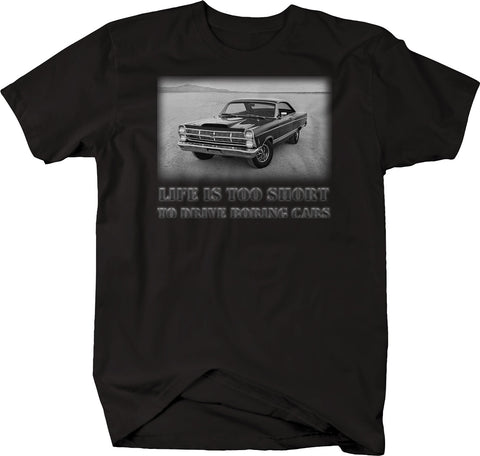 Life is Too Short to Drive Boring Cars - XL Black Muscle Car Classic  Tshirt