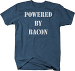 Powered By Bacon - Funny Workout Gym Cardio  Tshirt