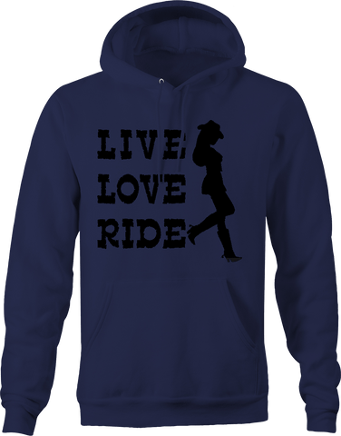 Live Love Ride Cowgirl with hat & boots