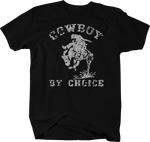 Distressed - Cowboy by Choice Rodeo Horseback