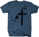 Distressed - Love Cross Christ Religion Heart