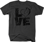 Distressed - Love Heart Horses Equestrian Horseback Riding