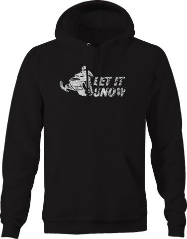 Let It Snow Snowmobile Racing Winter Sports  Hoodie