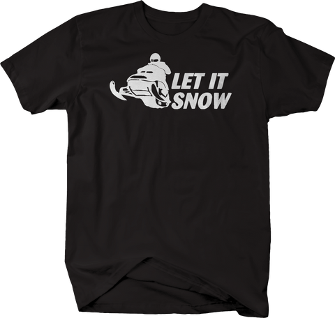 Let It Snow Snowmobile Racing Winter Sports