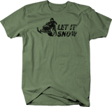Distressed - Let It Snow Snowmobile Racing Winter Sports