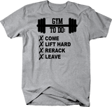 Gym To Do List Barbell Come Lift Rerack Leave Workout Fitness
