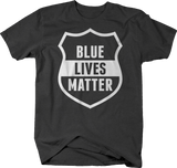 Blue Lives Matter Police First Responder Shield