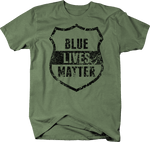 Distressed - Blue Lives Matter Police First Responder Shield