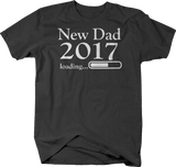 New Dad 2017 Loading Daddy Baby Birth Announcement