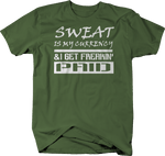 Sweat is my Currency I get Freakin' Paid Gym