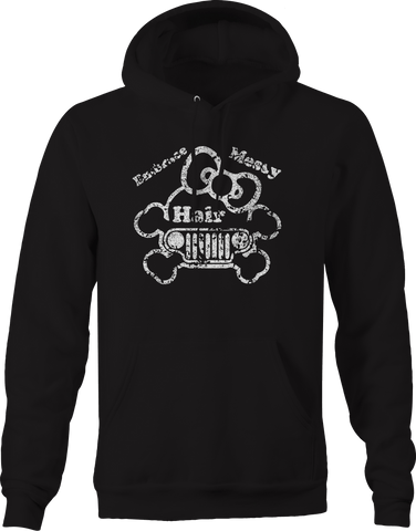 Embrace Messy Hair Girl Off Road 4x4 Wrangler Bow  Hoodie